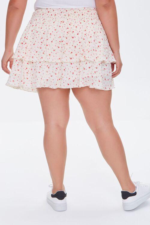 IVORY/MULTI Plus Size Ditsy Floral Skort, image 5