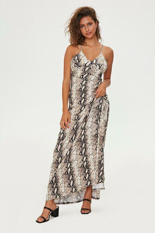 Snake Print Maxi Dress, image 1