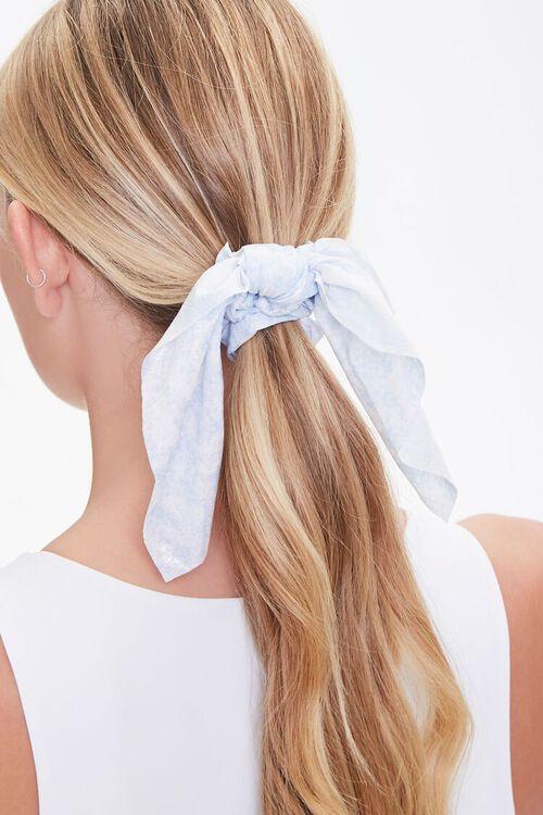 Cloud Wash Bow Scrunchie, image 1