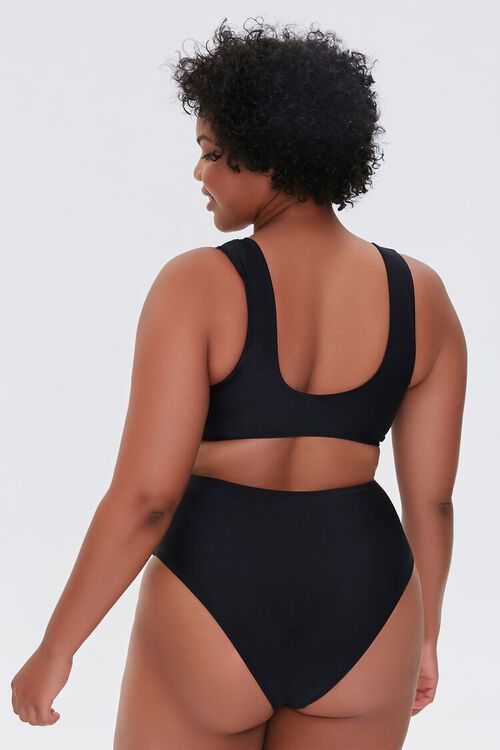Plus Size Twisted Cutout One-Piece Swimsuit, image 3