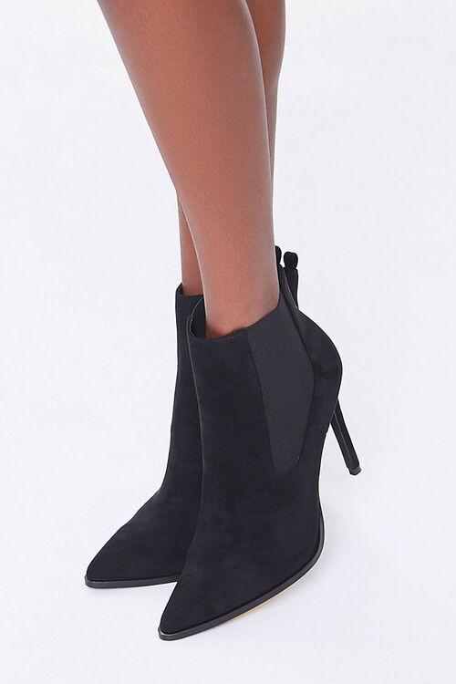 Faux Suede Stiletto Chelsea Boots, image 1