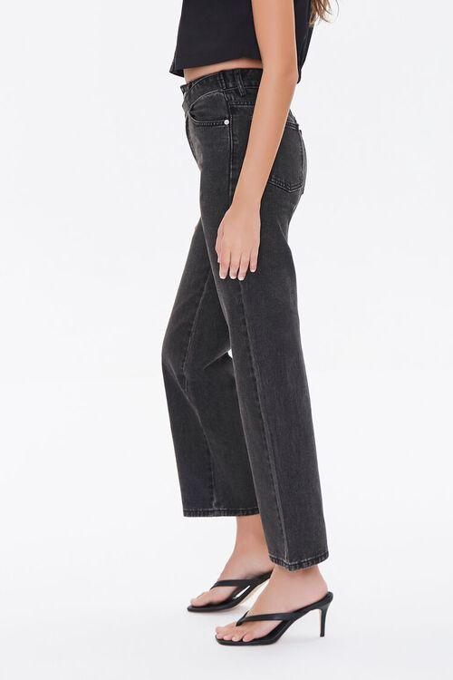Crisscross Belt Straight-Leg Jeans, image 3