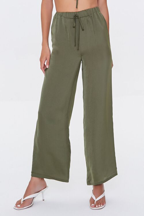 Ruched Crop Top & Drawstring Pants Set, image 5