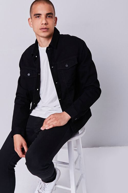 Recycled Buttoned Denim Jacket, image 1