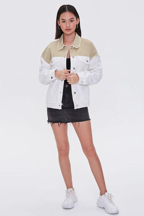 Frayed Colorblock Denim Jacket, image 4