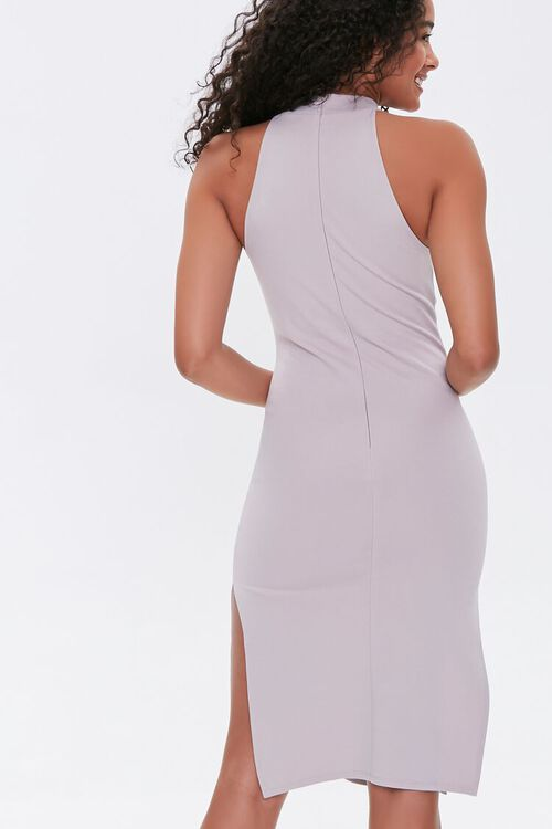 TAUPE High-Neck Bodycon Dress, image 3