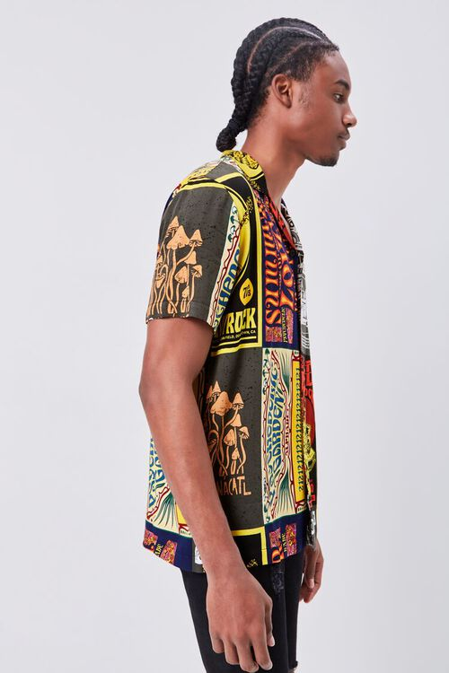 Retro Rock Patchwork Fitted Shirt, image 2