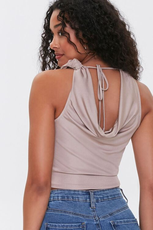 Cowl Neck Tie-Back Top, image 3