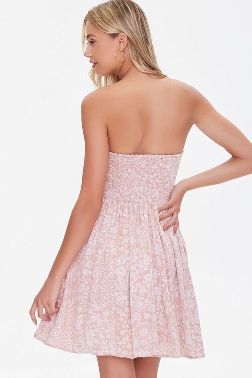 Floral Print Sweetheart Dress, image 3