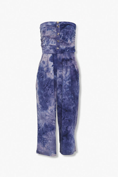 Tie-Dye Strapless Jumpsuit, image 1