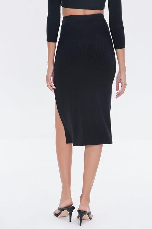 Ruched O-Ring Midi Skirt, image 4