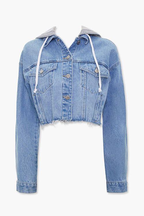Denim Hooded Jacket, image 1