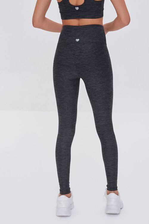 BLACK Active Heathered Leggings, image 4