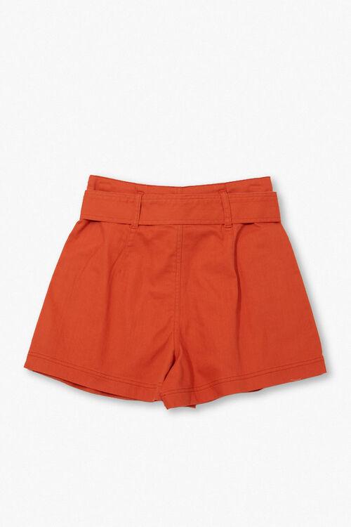 High-Rise Tie-Waist Shorts, image 2
