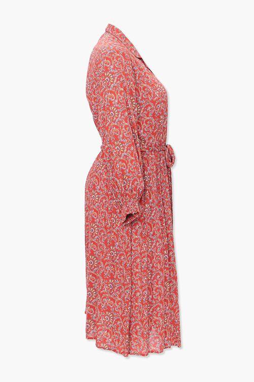 Plus Size Paisley Print Shirt Dress, image 2