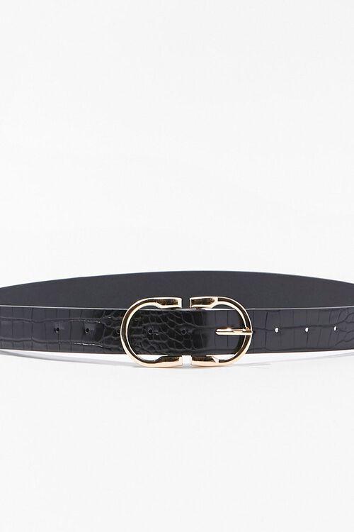 Faux Croc Leather Waist Belt, image 3