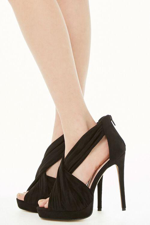 Shoe Republic Pleat Strap Stiletto Heels, image 3