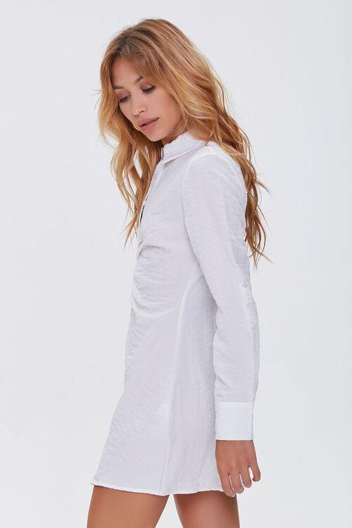 Ruched Mini Shirt Dress, image 2