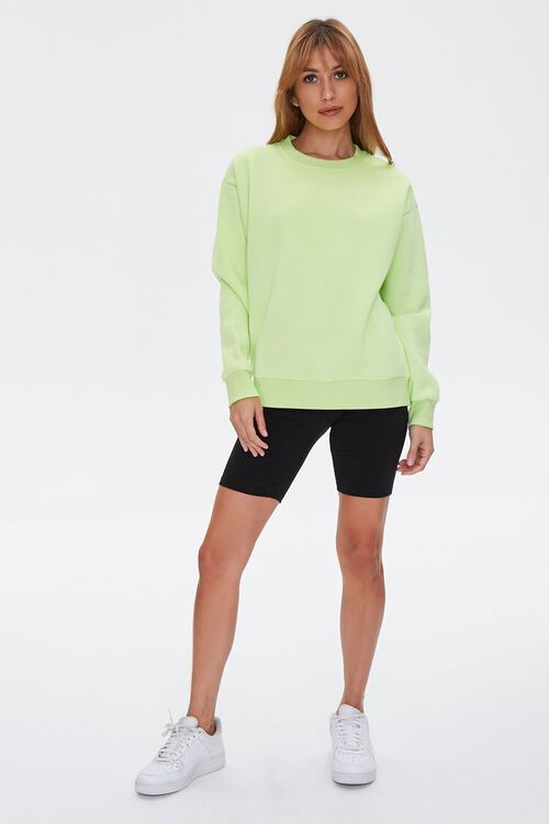 Basic Fleece Drop-Sleeve Pullover, image 4
