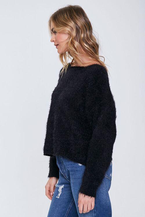 Fuzzy Knit Drop-Sleeve Sweater, image 2