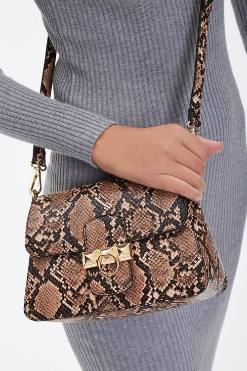 Faux Snakeskin Crossbody Bag, image 2