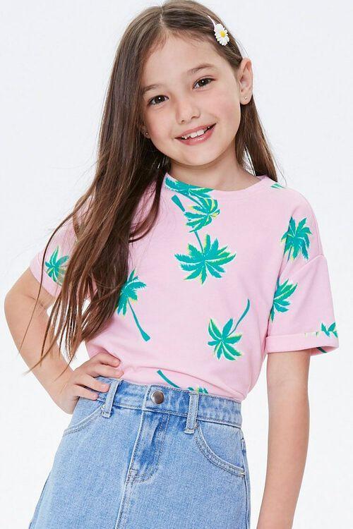 Girls Tropical Print Tee (Kids), image 1