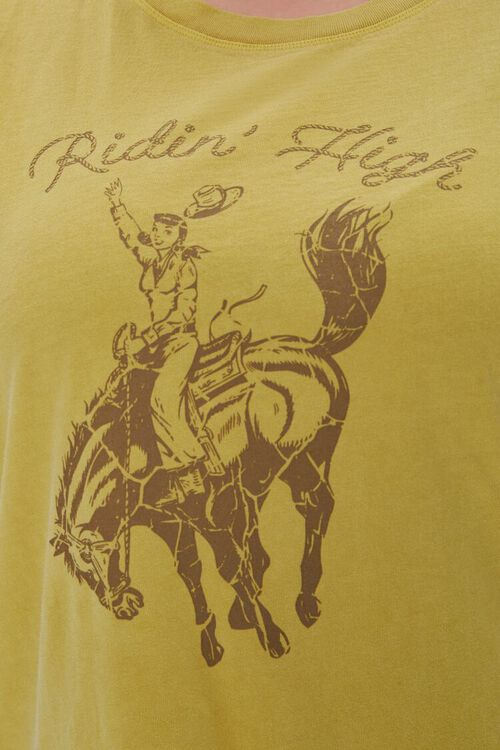 Plus Size Ridin High Graphic Muscle Tee, image 5