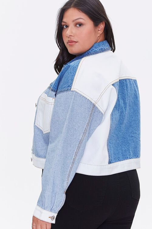 Plus Size Reworked Denim Jacket, image 2