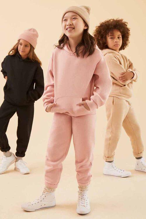 Girls Heathered Joggers (Kids), image 1