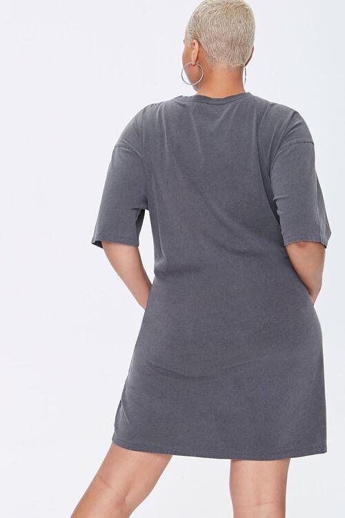 Plus Size Crew T-Shirt Dress, image 3