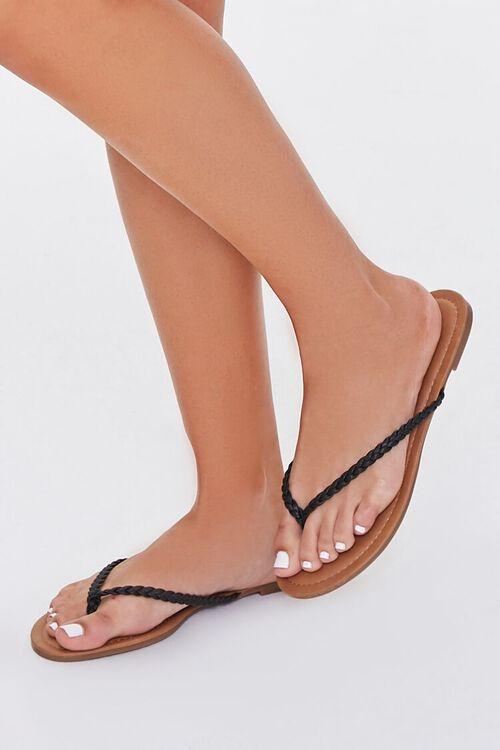 Braided Flat Sandals, image 1