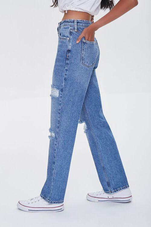 MEDIUM DENIM Premium Distressed 90s-Fit Jeans, image 3