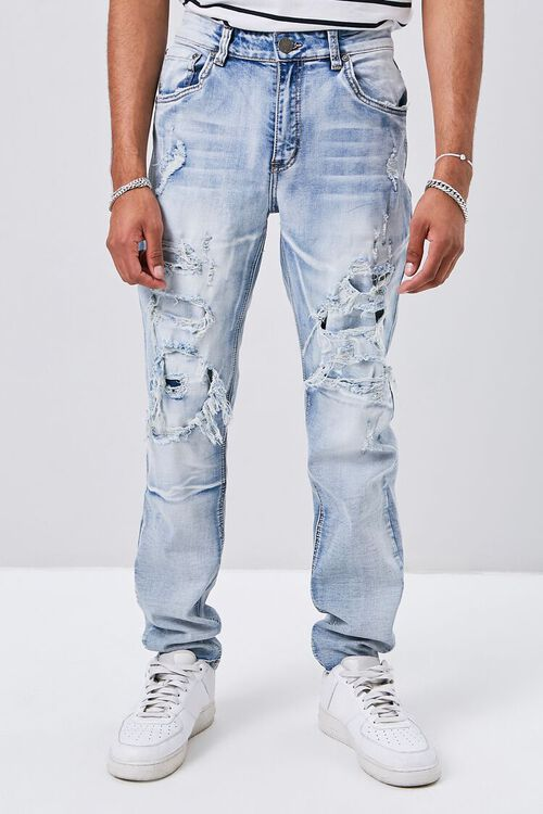 Distressed Slim-Fit Jeans, image 2