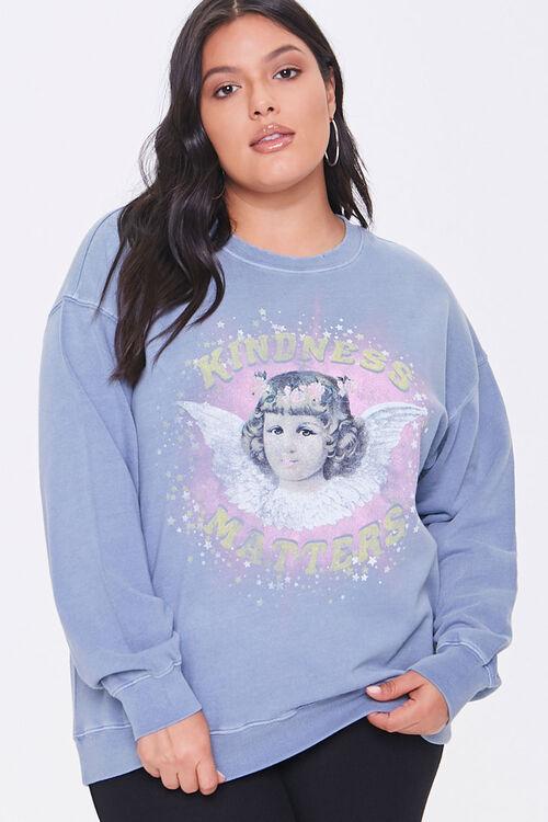 Plus Size Kindness Graphic Sweatshirt, image 1