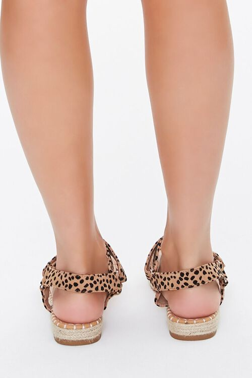 BLACK/BROWN Cheetah Print Espadrille Flatform Sandals, image 4