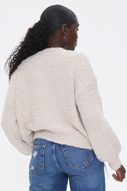 Boucle Button-Front Cardigan, image 3