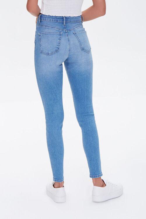 MEDIUM DENIM Essential High-Rise Skinny Jeans, image 4