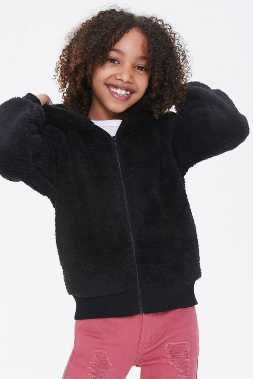 Girls Hooded Teddy Coat (Kids), image 1