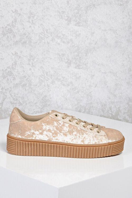 Crushed Velvet Low-Top Sneakers, image 4