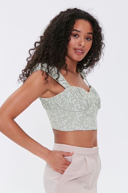 Floral Ruched Crop Top, image 2