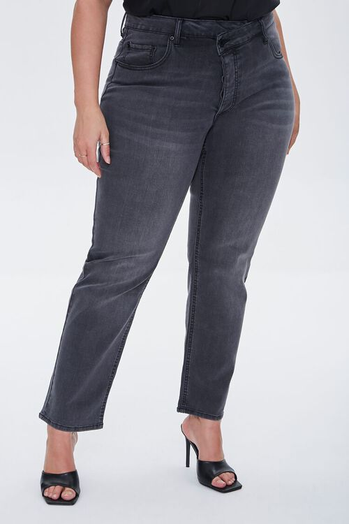 Plus Size Recycled Straight Jeans, image 2