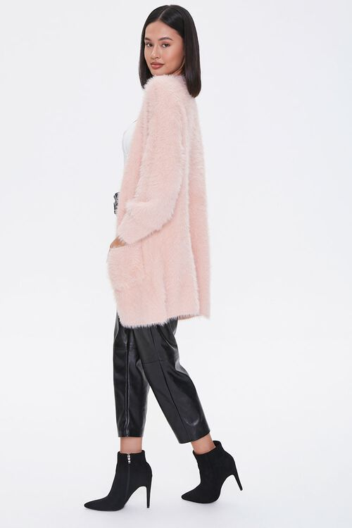 Fuzzy Knit Open-Front Cardigan, image 2
