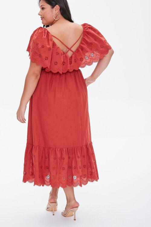 Plus Size Floral Eyelet Dress, image 4