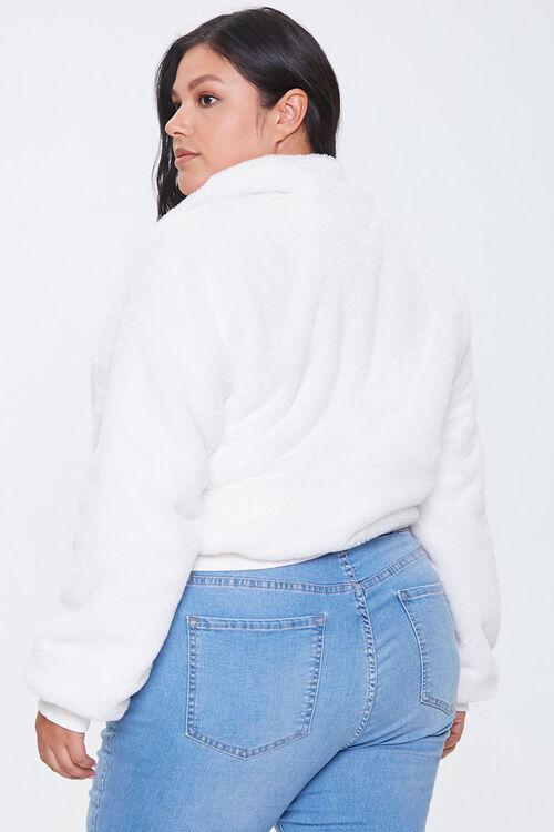 Plus Size Plush Half-Zip Pullover, image 3