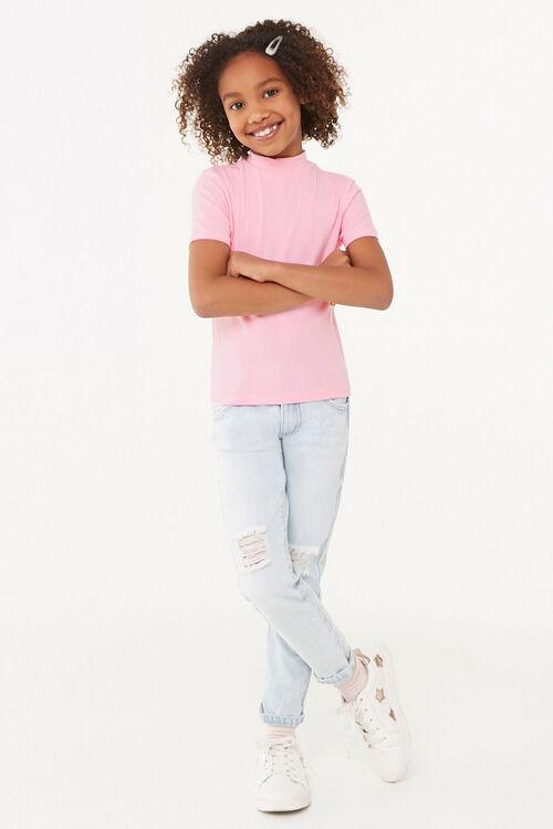 Girls Mock Neck Top (Kids), image 4