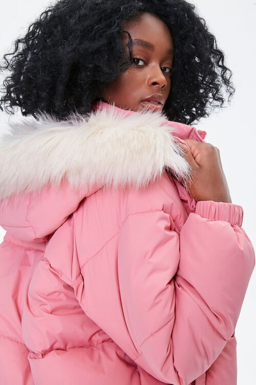 Faux Fur Hooded Puffer Jacket, image 5