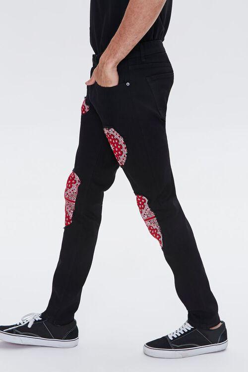 Bandana-Patch Skinny Jeans, image 3