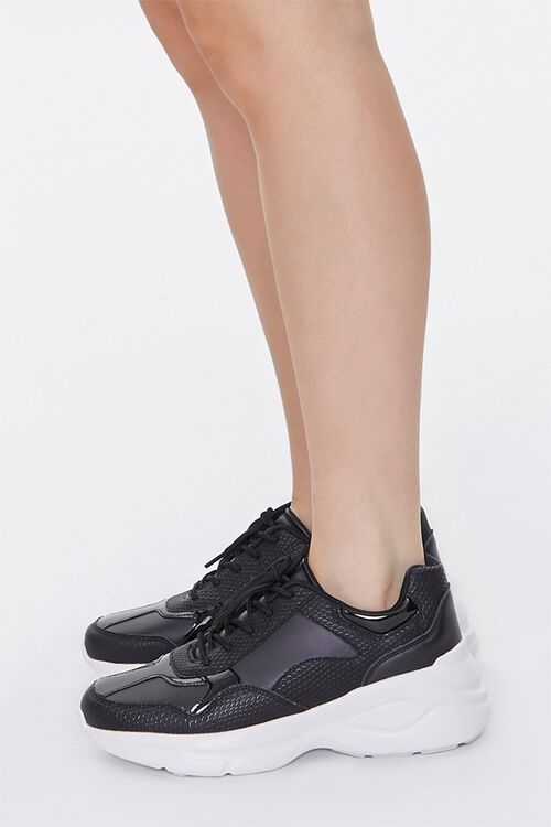 Faux Leather Low-Top Sneakers, image 2