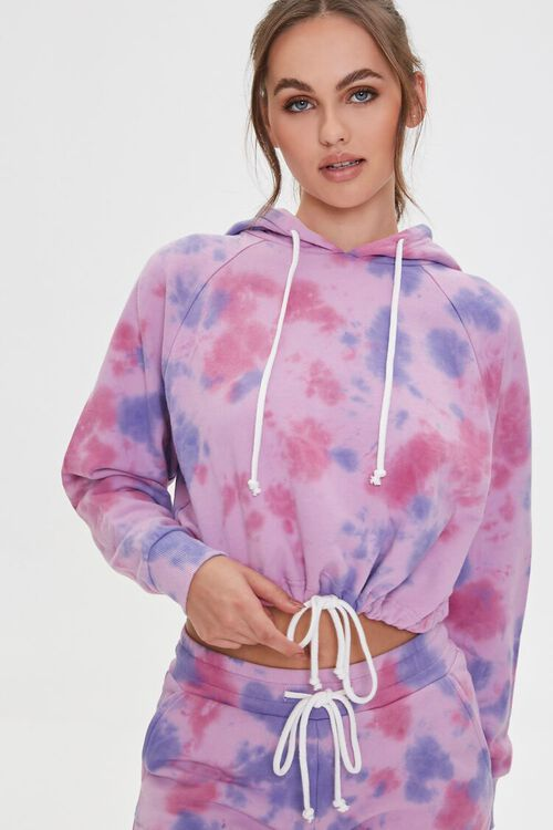 Tie-Dye Drawstring Hoodie, image 1