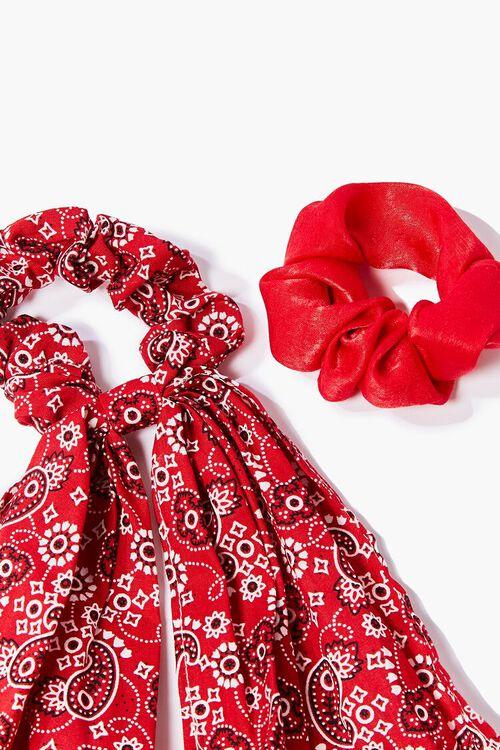 Paisley Bow Scrunchie Set, image 2